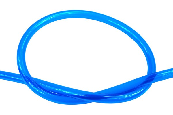 "Masterkleer tubing PVC 13/10mm (3/8""ID) UV-active blue"