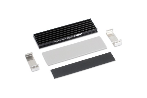 Aquacomputer kryoM.2 micro passive heat sink for M.2 2280 SSD