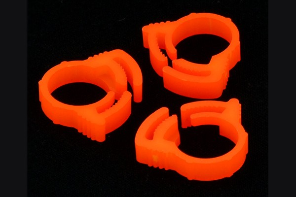 PrimoChill hose clamp 19mm (3/4' OD) plastics UV brite orange