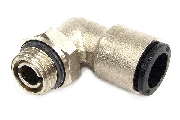 10mm G1/4 plug fitting 90° revolvable nickel coated