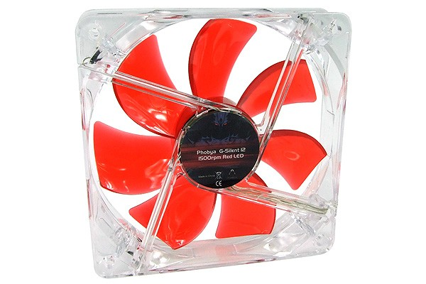 G-Silent 12 1500rpm Red LED ( 120x120x25mm )